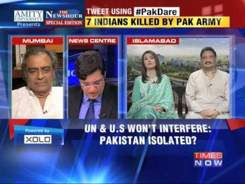 The Newshour Debate: Pakistan kills civilians again - Full Debate (8th Oct 2014)