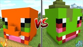 Minecraft CHARMANDER HOUSE VS BULBASAUR HOUSE POKEMON / FIND OUT WHICH POKEMON IS BEST !! Minecraft