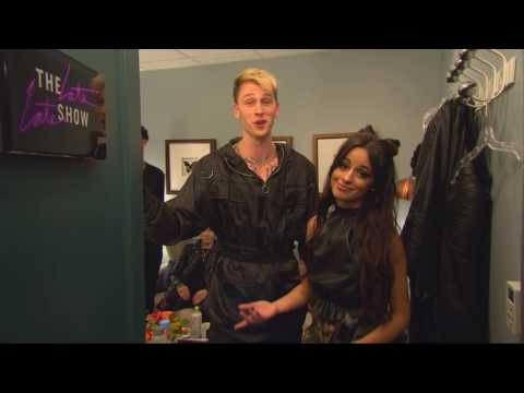 [HD] Camila Cabello & Machine Gun Kelly in backstage at The Late Late Show