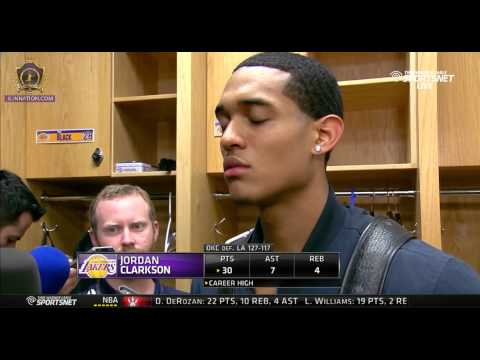 Jordan Clarkson post game interview - Lakers vs OKC