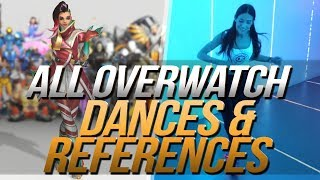 Overwatch Dances | Music & Reference | Side by Side | All Heroes