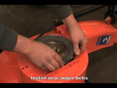 Replacing the Auger Belts - Ariens Two-Stage Snow Blower