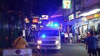 Xe cứu thương ở Thái Lan, tiếng còi lạ như tiếng chuông - Thai Ambulance responding with bull horn