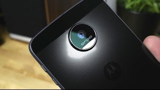 First Look: Moto Z,  Z Force, and Moto Mods (Projector, Speaker, Battery)