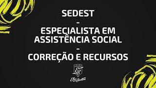 SEDEST/IBRAE - Especialista em Assistência Social - correção da prova e recursos