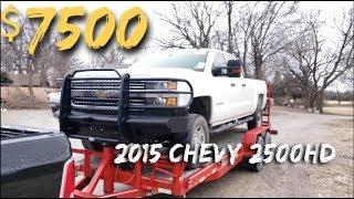 $7500 2015 Chevy Silverado 2500 4X4 - NON-RUNNER /  AUCTION BUY