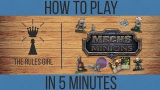 Mechs Vs Minions Tutorial - How to Play in 5 Minutes - The Rules Girl