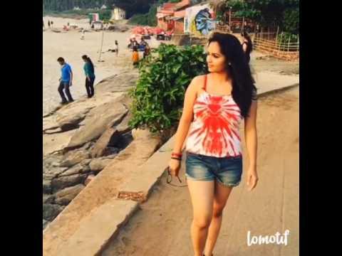 Gorgeous girl |Beach walk|vagator beach| Goa times