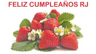 RJ   Fruits & Frutas - Happy Birthday