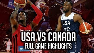 USA VS CANADA Full Game Highlights | Aug 26, 2019 FIBA World Cup Preparation