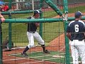Oral Roberts Junior SS Tyler Saladino (batting practice)