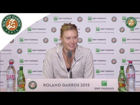 Press conference Maria Sharapova 2015 French Open Girl's/R128