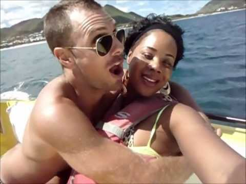 Thick Business Parasailing In St. Maarten On Orient Bay Beach video