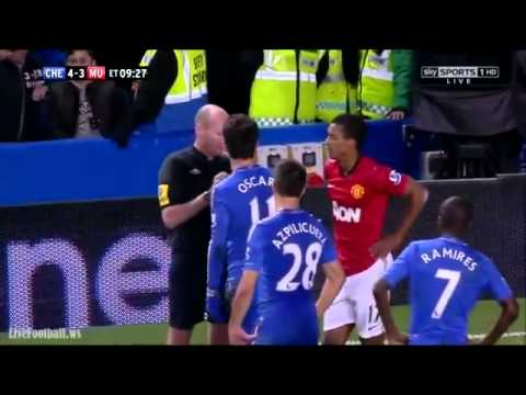 Nani and Oscar FIGHT - Chelsea Vs Manchester United (4-3) 31.10.2012 HD