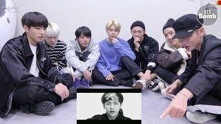 BTS reaction to V