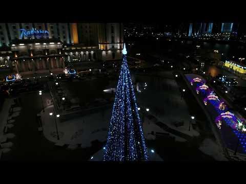 4К - Новогодняя Москва с квадрокоптера