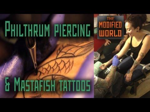 Philtrum (upper lip) Piercing and Mastafish Tattoos- THE MODIFIED WORLD
