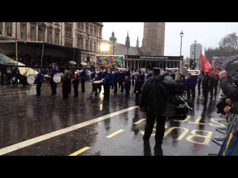 London's New Year's Day Parade 2014 - Essex Marching Corps - 1/1/2014 (HD)