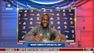 Sports Tonight: Nigeria Striker, Victor Moses Extends Chelsea Stay Till 2021