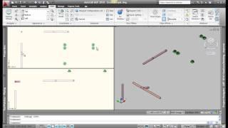 AutoCAD MEP 2010 Piping Basics - Video 1of2