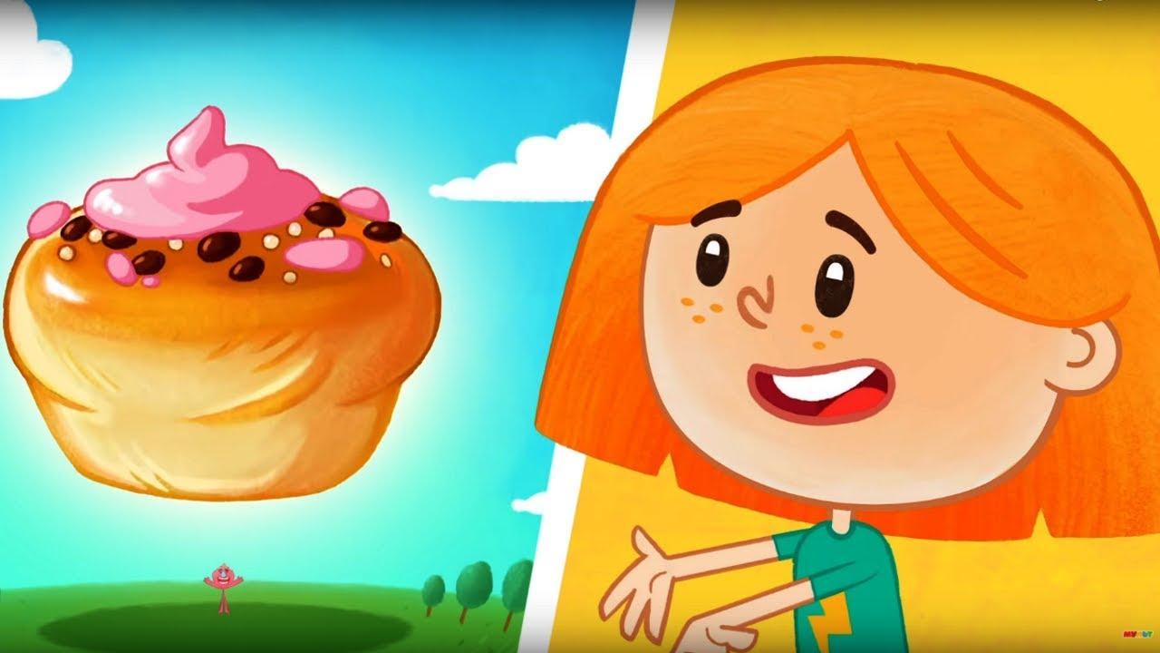 Катя и Эф. Куда-угодно-дверь - Булочкомат - Серия  4 - Развивающий мультфильм для детей