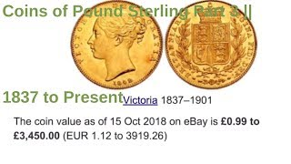 Coins of Pound Sterling Part 3 || 1837 to Present