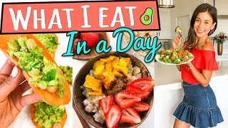 WHAT I EAT IN A DAY VEGAN | 3 INGREDIENT MEALS