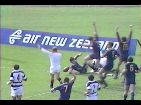 Tony Lewis try vs Auckland 1986