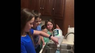 Priceless reactions to vinegar and baking soda