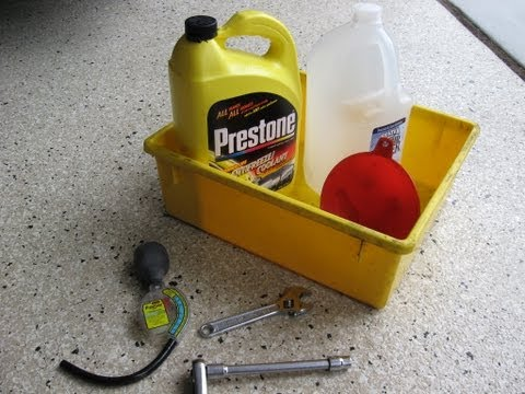 Ford Explorer radiator coolant change antifreeze service by froggy