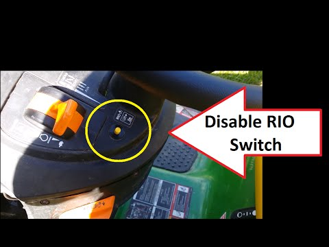 How to Disable RIO Switch John Deere Mow in Reverse