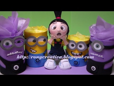 MINIONS DULCERO-LAPICERO / DESPICABLE ME PARTY IDEAS DIY - YouTube
