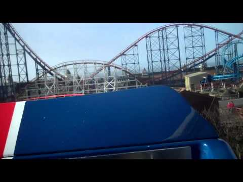 Pepsi Max Big One (On & Off Ride, With New Trains) At Pleasure Beach Blackpool