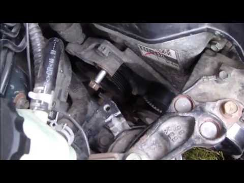 How to replace tensioner. Drive belt or serpentine belt. Toyota Corolla VVTi. Years 2000-2007