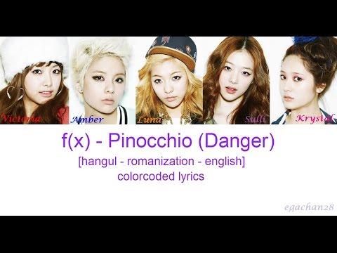f(x) - Danger (Pinocchio) {han rom eng} colorcoded lyrics by Egachan28