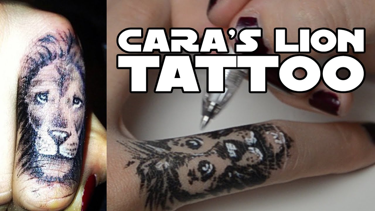 Lion Dancing Tattoo Cara Delevingne Lion Tattoo