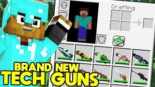 BRAND NEW Minecraft MODDED Hunger Games MORPH ANIMALS MOD w/ FUTURE TECH GUNS