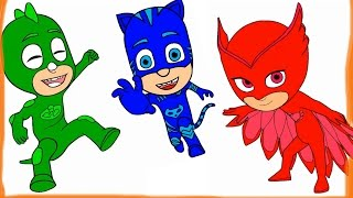 Learn Colors for Children and PJ Masks Coloring Pages