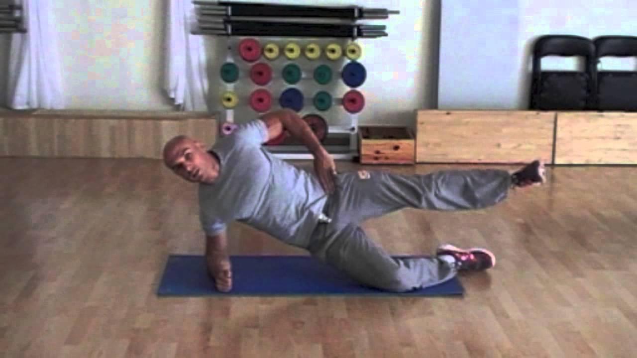 Exercice de gainage latéral N°1 - YouTube