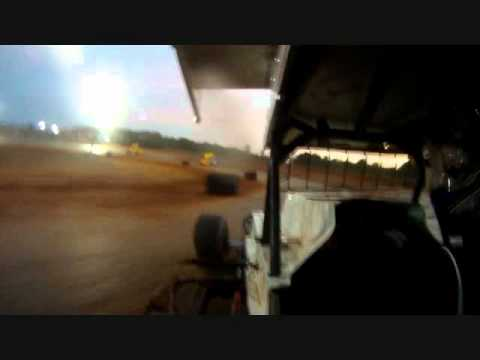 In Car, Heat 2, Champion Park Speedway, Minden La, 7-23-11
