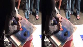 Palm Springs California Street Festival Street Spray Art in YT3D Stereoscopic