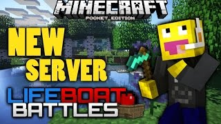 MCPE LIFEBOAT BATTLES !! NEW SERVER REVIEW!