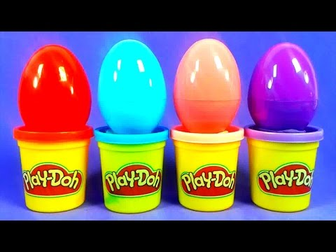 Play Doh Ice Cream Surprise Eggs Kinder Cars Peppa Pig Egg Petshop Donald MLP Disney Video baby Kids