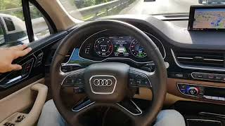Audi Traffic Jam Assist Q7/Q8/A4 in real world 🚘