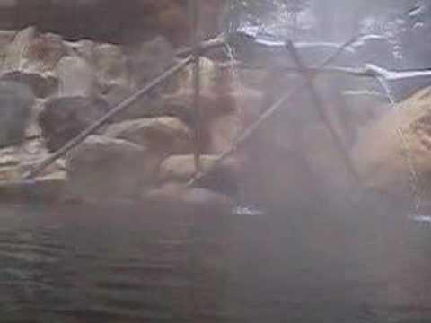 混浴温泉 厳冬の佳留萱キャンプ温泉konyokuonsen-okuhida karukayasansou