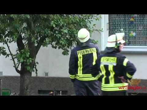 Dachstuhlbrand in Kreuztal in der Hochstraße