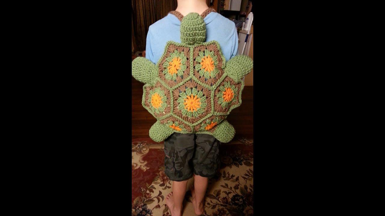 Crochet Turtle Backpack