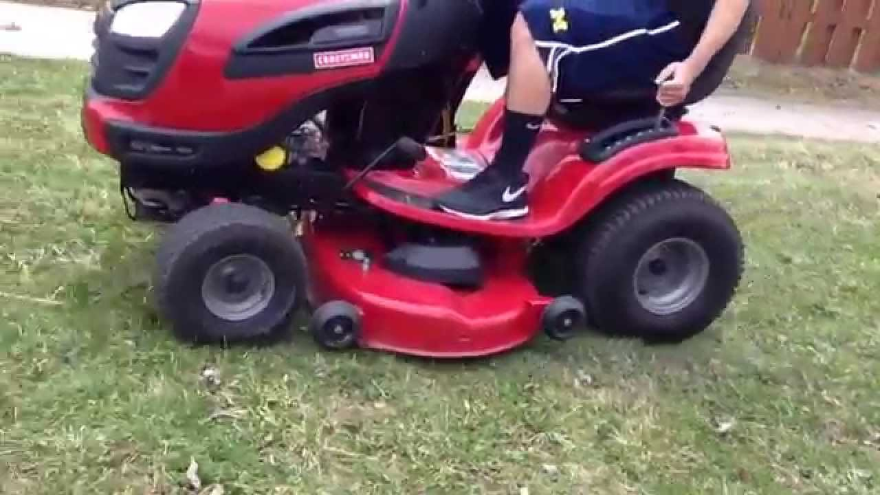 Craftsman Yt 3000 Lawn Tractor : Craftsman yt quot hp riding lawn mower youtube