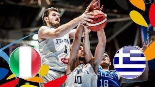 Italy v Greece - Full Game - Round of 16 - FIBA U20 European Championship 2018
