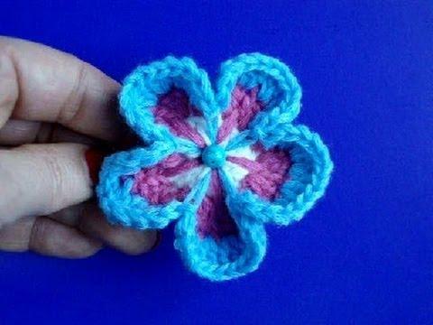 Вязание цветов крючком Урок 8